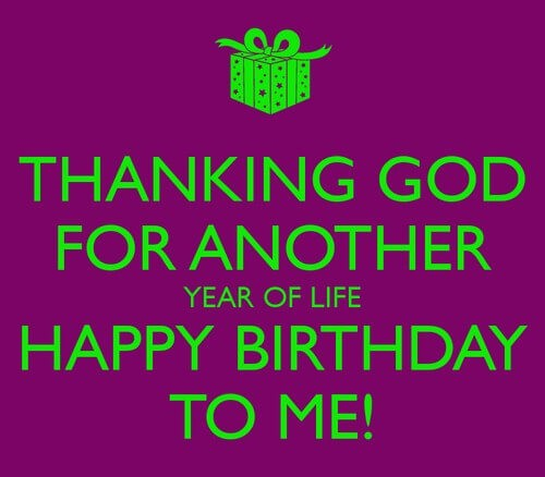 happy birthday wishes to myself