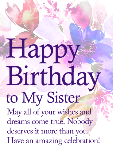 Happy Birthday To My Sister