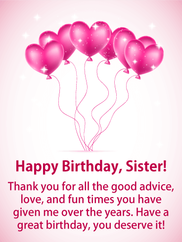 Happy Birthday My Sister