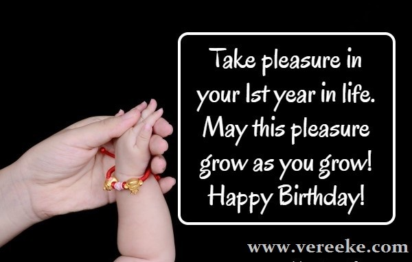 1st birthday wishes for girl