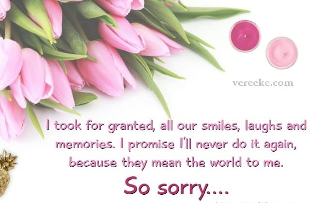 I AM Sorry Quotes & Messages for Girlfriend