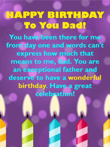 Birthday Messages for Dad