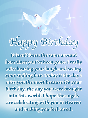 Happy Birthday Wishes for Friend in Heaven