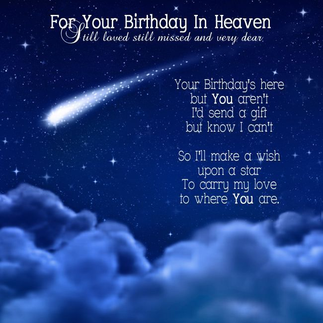 Birthday Wishes for Someone Up in Heaven