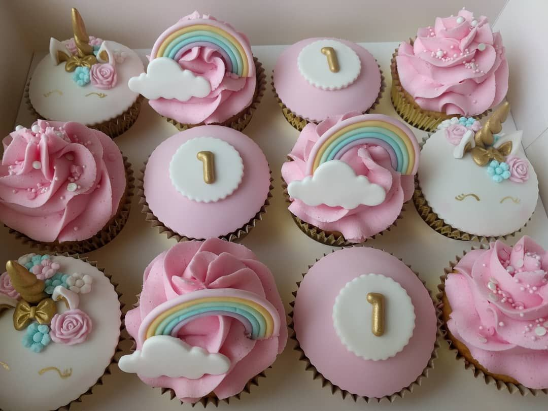 1st Birthday Party Cupcakes